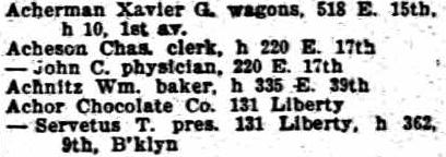 1899 Directory