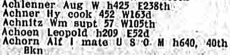1918 Directory