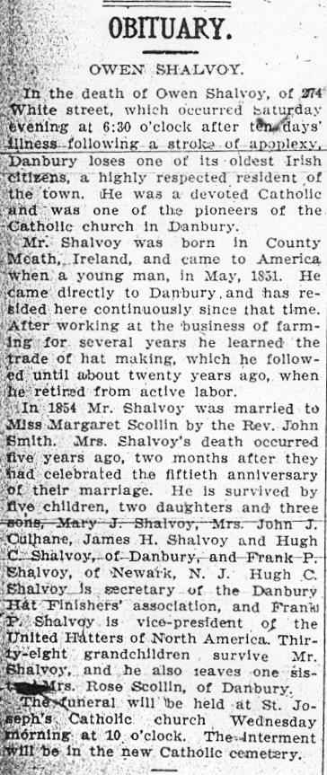 Owen Shalvoy - Obituary