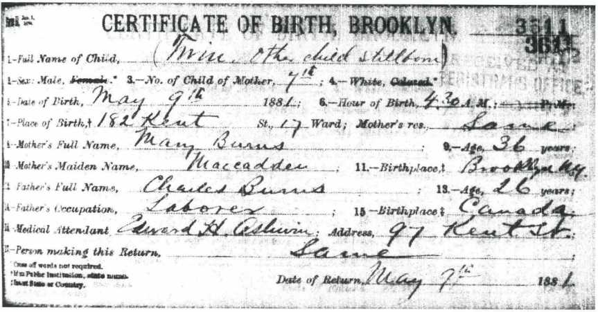 henry-burns-birth-record